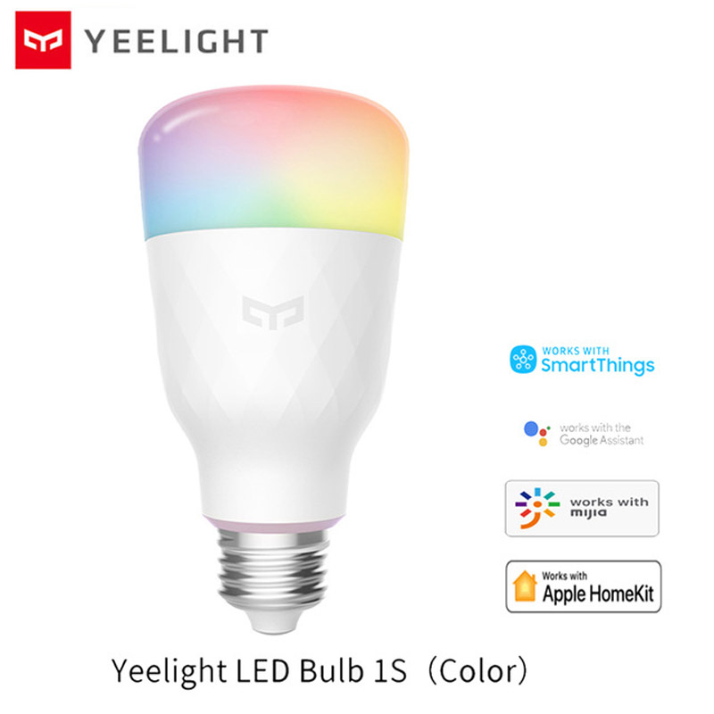 Yeelight 1S Colorful Bulb E27 Smart APP WIFI Remote Control Smart LED Light RGB   Colorful Temperature Romantic Lamp Bulb