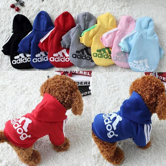 Dog clothes adidog 2020 new winter Pet clothes small and medium-sized dog Hoodies puppy clothing Sweatshirt for dogs 1