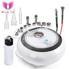 Beauty Star 3in1 Diamond Microdermabrasie Machine Vacuüm Spray Therapie Massage Dermabrasie Mee eter Verwijderen Huidverzorging Machine