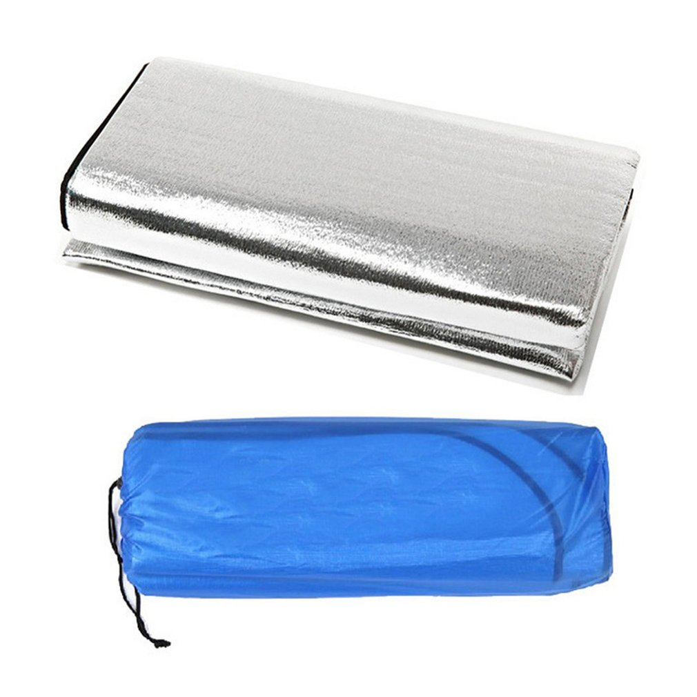 Double Sided Foldable Waterproof Aluminum Foil Mat Outdoor Travel Beach Mat Sleeping Mattress For Camping Hiking