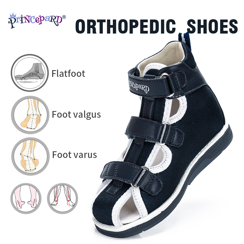 Princepard 2020 Children Orthopedic Shoes For Flat Feet Summer Kids Shoes Closed Toe Boys Girls Sandals With Ankle Support