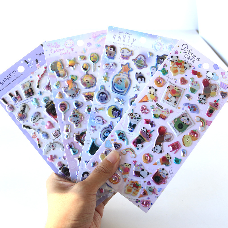 1pcs Kawaii Stationery Stickers 3D Sweet Animals Travel Diary Planner Decorative Mobile Stickers Scrapbooking DIY Craft Stickers