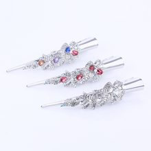 Fashion Metal Hair Barrettes Crystal Diamante Ibis Type Hair Clip Silver Plated Flower Butterfly Barrette for Women