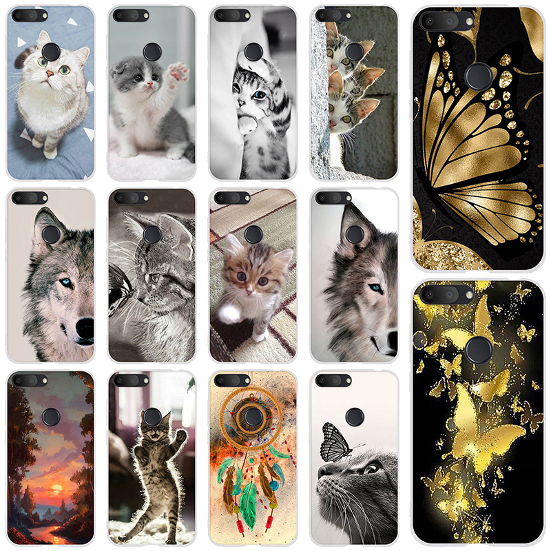 Back Phone Cover For Alcatel 1S 2019 5.5 Inch Cute Stylish Design Soft Phone Case Colorful Painted TPU Silicone Cover Fundas