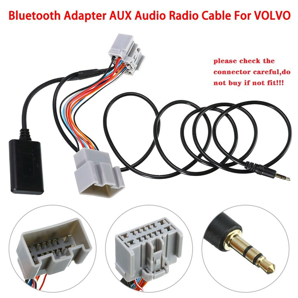 14Pin Car Audio Receiver AUX IN Bluetooth Adapter Audio AUX Cable For Volvo C30/S40/V40/V50/S60/S70/C70 Receiver Adapter