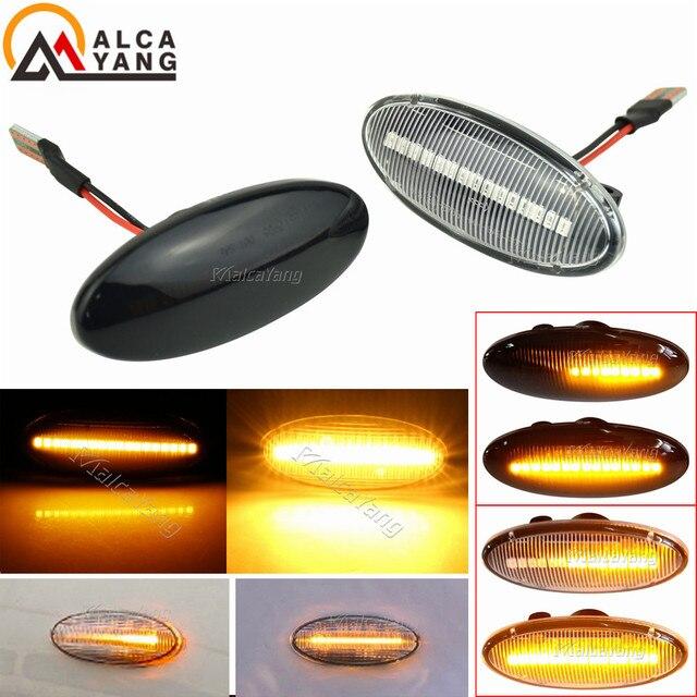 דינמי רכב ברור LED צד מרקר הפעל אות אור עבור ניסן הקאשקאי J10 x trail T31 קוביית Juke עלה micra Micra K13 הערה E11