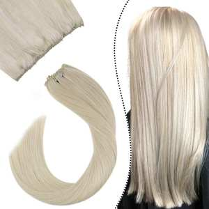 Ugeat Micro-Bead Hair-Extensions Weft-Hair 12inch-Width Easy Remy 50g/Set 12-Colors 12-24--Machine