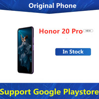Firmware internacional Honor 20 Pro 4G LTE Android Teléfono Kirin 980 ocho nucleos 48.0MP huella dactilar 6,26
