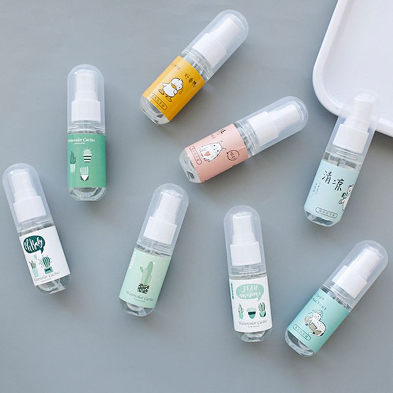 30ml Cartoon Portable Disnfectant Spray Hand Sanitizer Soap Liquid Rinse-Free X7YB