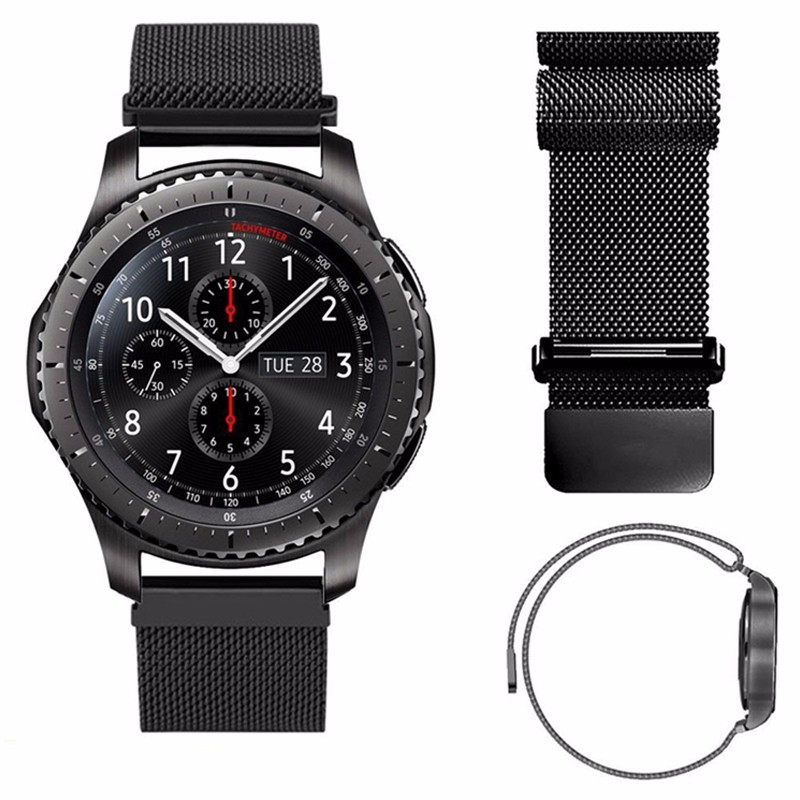 Replacement Strap For Samsung Galaxy Watch 46mm Stainless Steel Milanese Magnetic Closure  Gear S3 Frontier Watch Band