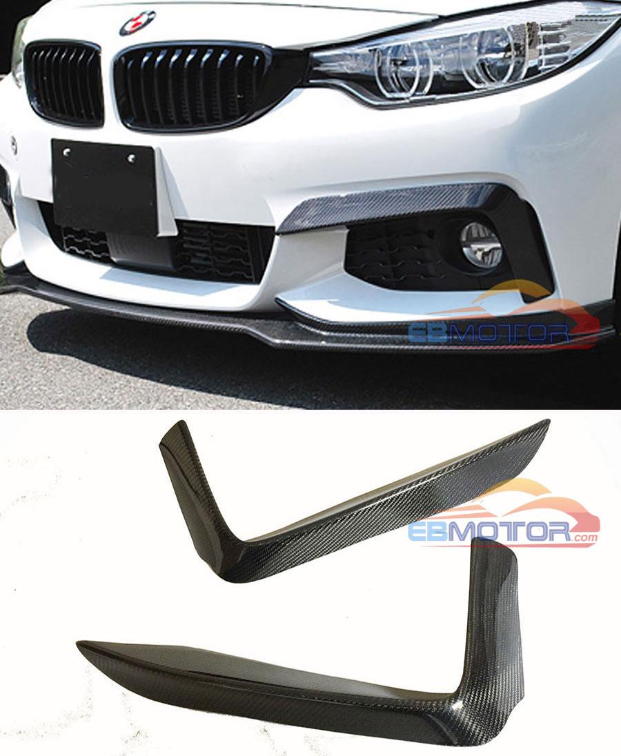 P Stijl Real Carbon Fiber Front Top Splitter 1 paar Voor BMW F32 M Tech Bumper 2014UP B399