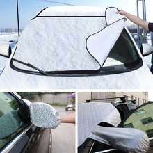 autos Car Windshield Sunshade Cover Universal Car Rain Ice Snow Protector Anti Sun UV Heat Front Window Thick Car SUV Cover