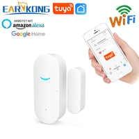 Sensor inteligente de apertura de puerta con Wifi para el hogar, sistema de alarma inalámbrico, detector de puerta, compatible con aplicación Alexa, Google home y Tuya