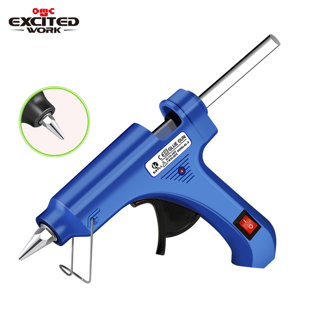 Hot Melt Glue Gun with Glue Stick 7mm 11mm Mini Gun Thermo Electric Heat Temperature Tool pistola de silicona calien EXCITEDWORK
