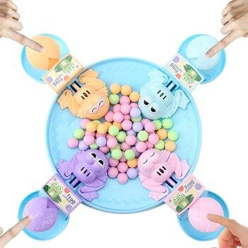Rana hambriento comiendo frijoles niños tablero de juegos de estrategia juguete familiar interactivo alivio del estrés juguete interesante juegos regalos