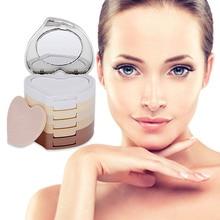 Nieuwe Collectie 5 Kleuren Set Vrouwen Makeup Gladde Huid Gezicht Poeder Minerale Foundation Concealer Blote