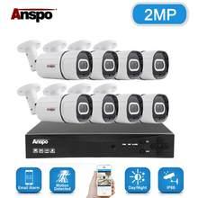 8CH 2MP Audio Record DVR AHD Câmera de Segurança Kit Sistema De Câmera IR Ao Ar Livre À Prova D' Água de Vídeo Vigilância CCTV Conjunto DVR