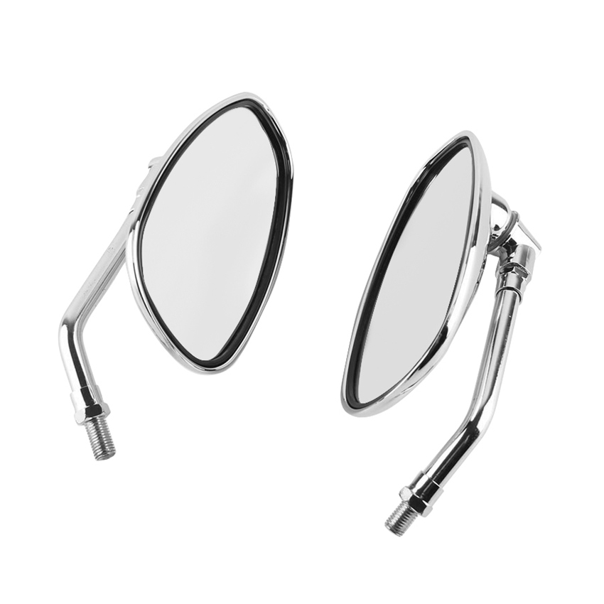 10mm RearView Mirrors For <font><b>YAMAHA</b></font> <font><b>XVS950</b></font> DRAGSTAR 250 400 XVS1900 FZ8N XJ6 TDM900 XJR1300 Pair image