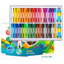 Deli 12 18 24 36 kolory uczniowie artysty rysunek kreatywne malowanie zestaw kolorów kredki pen oil pastel dla dzieci tanie tanio 72050 72051 72052 72053 36 kolory box Pastelowe oleju 12 18 24 36 Colors Box