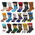 Персонализированные носки с аниме принтом, модные забавные новые носки с мультяшным рисунком для мужчин и женщин, удобные хлопковые коротк...