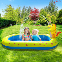 Inflatable Swimming Pool with Sprinkler Kiddie Pool Family Full-Sized Inflatable Pool Blow Up Lounge Pools Garden Party PI669