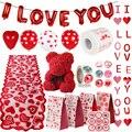 16 дюймов красные воздушные шары из фольги с надписью «Любовь» в форме сердца/воздушные шары висит розовой мишкой подарок для Обручение Свад...