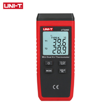 UNI-T UT320D mini-contact thermometer, dual-channel K/J thermocouple thermometer data to keep off automatically compact size thermocouple thermometer low cost thermometer dual inputs thermometer center 308