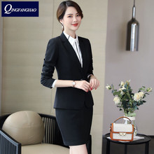 Women s office wear long sleeve Blazer And Pants Or Skirt 2 Pieces Set High Quality Ladies Work Wear Business suit