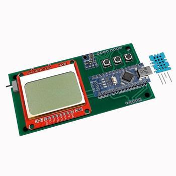 цена на DIY kit Weather Station starter IoT Temperature Humidity Barometric Pressure Sensor LCD Nokia5110 BMP180 DHT11 for Arduino Nano