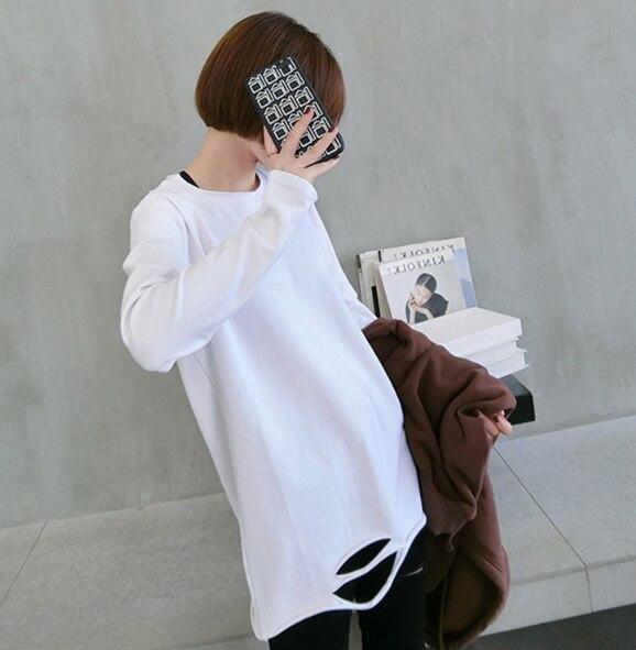 Купить s 2xl большие размеры белая футболка женская с длинным рукавом