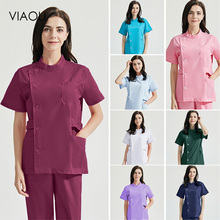 viaoli Dental Hospital medical uniforms pet grooming nursing uniforms scrubs Surgical workwear wholesale doctor costume women