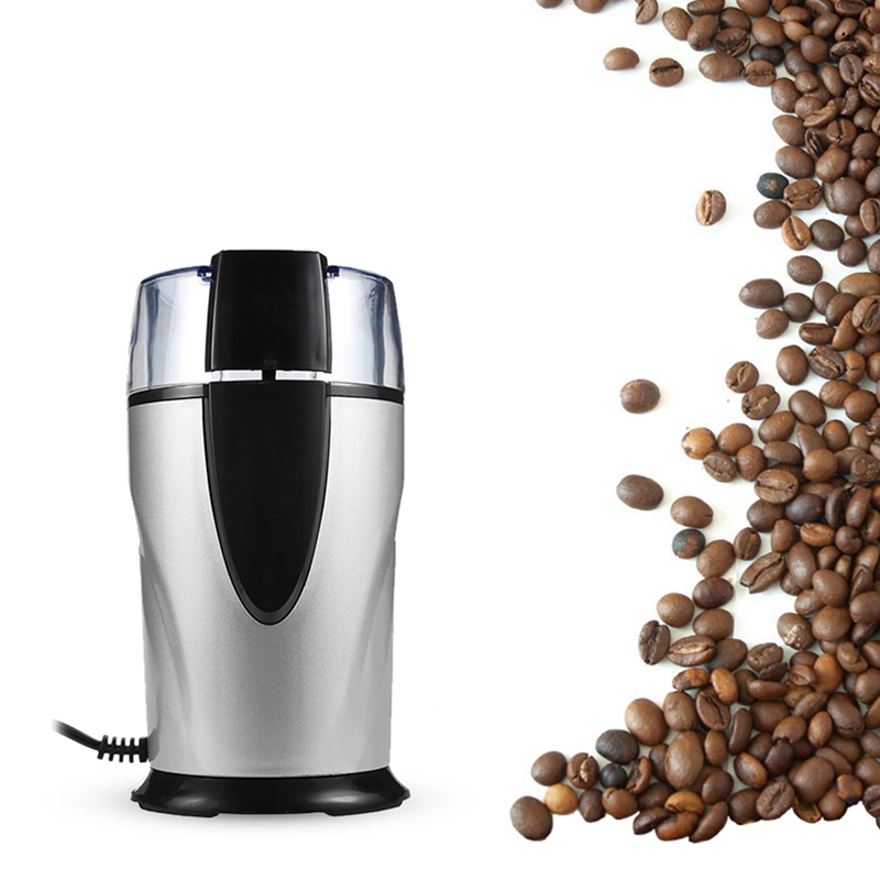 Electric Coffee Grinder Spice Maker Stainless Steel Blades Coffee Beans Mill Herbs Nuts Cafe Home Kitchen Tool Eu Plug|Electric Coffee Grinders|   - AliExpress