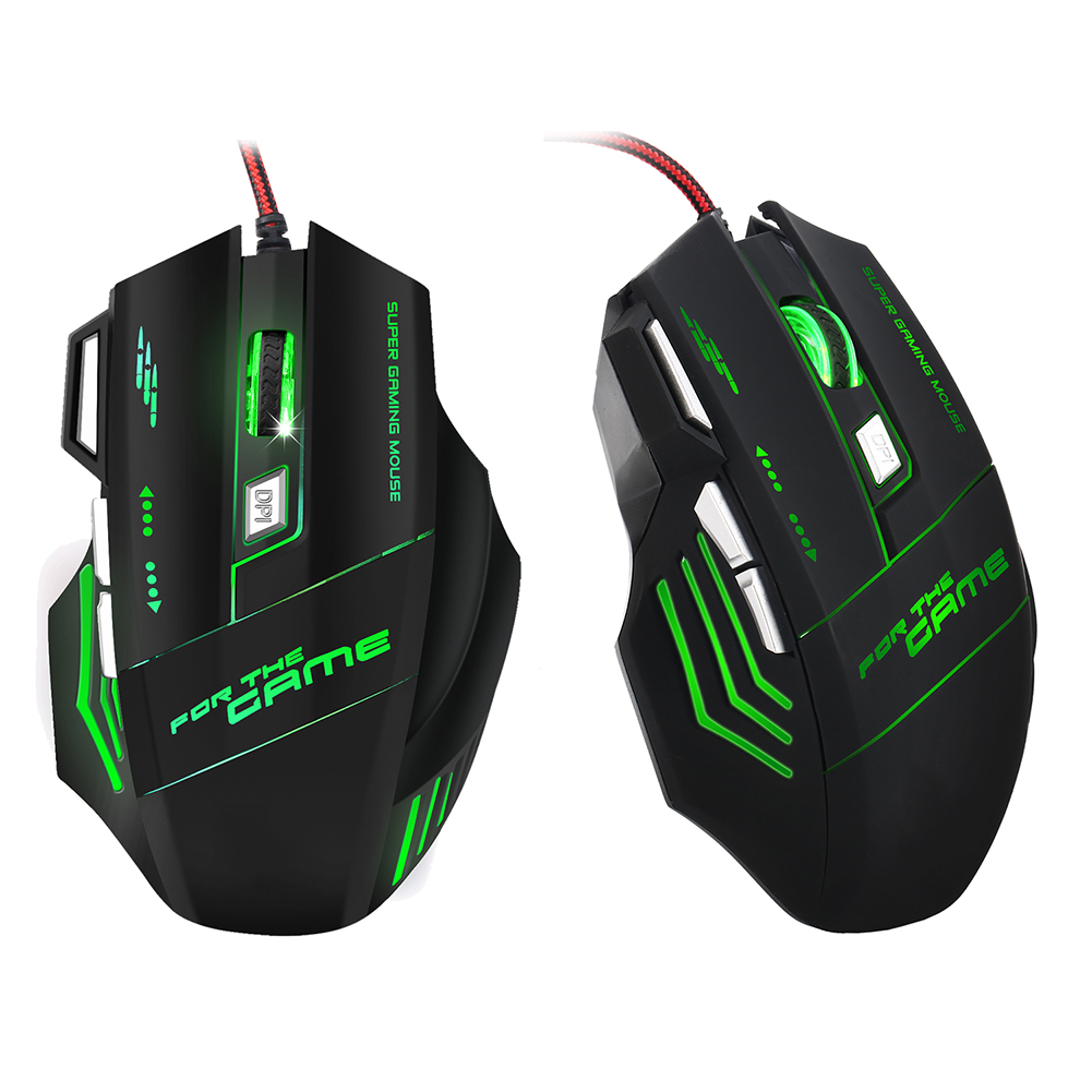 Professional Gaming Mouse Wired Gaming Mouse 7 Button 5500 DPI LED USB Computer Mouse Gamer Mice With Backlight For PC Laptop