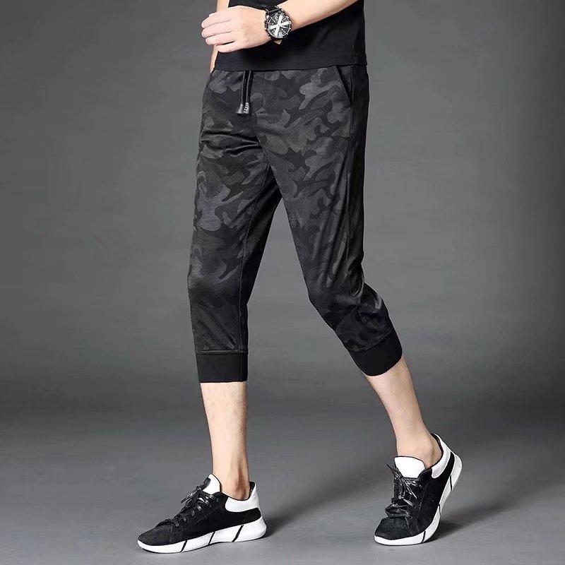2018 Men's Korean-style Capri Pants Men Sports Camouflage Running Capris Summer Large Size Loose Casual Pants