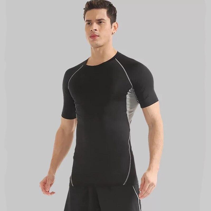 Men's Brand Men Short Sleeve T-Shirt Men O Neck Quick Drying Casual Tight Tee Tops Fitness Apparel Sportswear