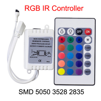 RGB LED controller DC 12V 24 key IR remote control 12v For led Strip 2835 3528 5050 With Box Receiver super compact media center ir remote controller with usb receiver