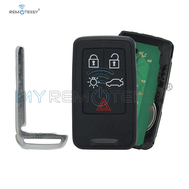 Remtekey Smart car key 434mhz 5 button KR55WK49266 for <font><b>Volvo</b></font> S60 V60 <font><b>XC60</b></font> 2011 2012 2013 2014 2015 <font><b>2016</b></font> 2017 image