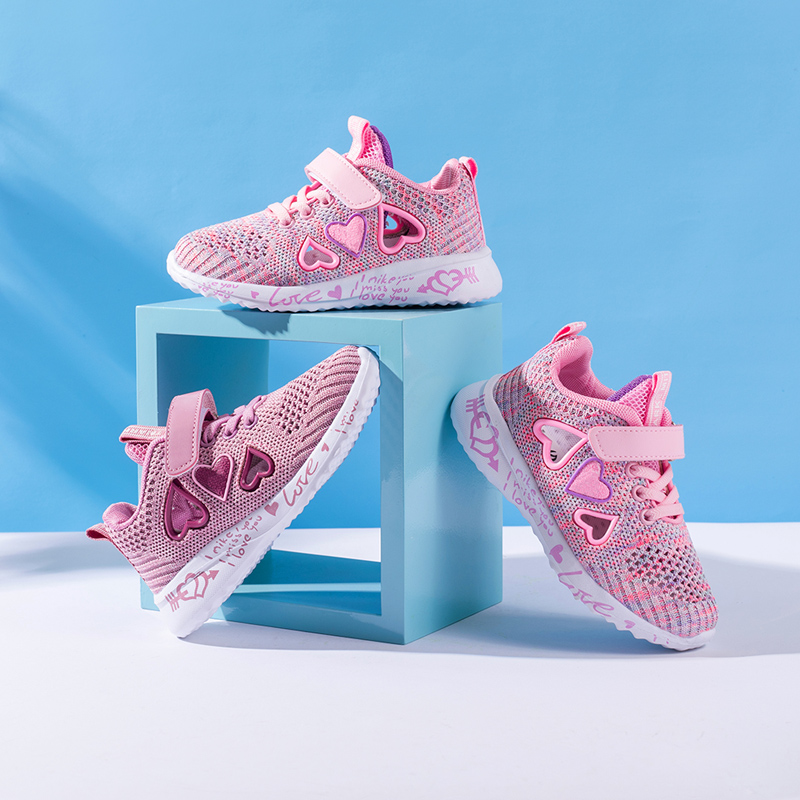 Children Mesh Casual Shoes Girl Sneakers Kids summer Sport Footwear Kids Shoes for Girl Light Shoes Cute Pink Flat Shoes autumn 3