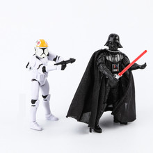 Space Wars Toys 10cm CLONE TROOPERS Commander ANAKIN SKYWALKER DARTH VADER PVC Action Figure Collection Model Doll Gifts for Boy