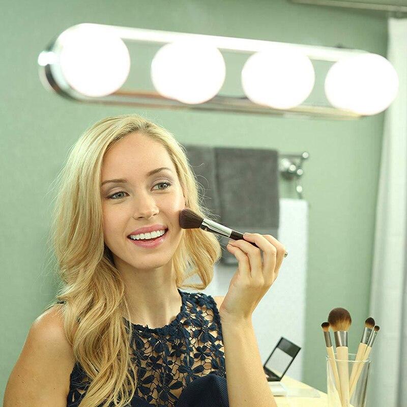 Maquillaje tocador gabinete espejo luces maquillaje luz tocador maquillaje profesional lámpara de alimentación completa Super brillante 4 bombillas LED