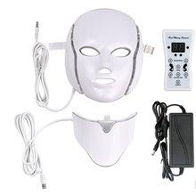 Светодиодный светильник, микротоковая маска для лица, инструмент для красоты, терапия, омоложение кожи, маска для лица и шеи, Отбеливающее электрическое устройство