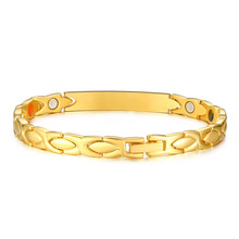 Fashion Gold Color Bracelets For Women Jewelry Men Stainless Steel Bracelet Bangles Magnetic Accessories Wholesale