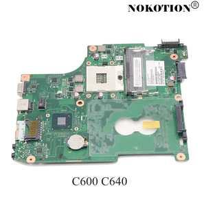NOKOTION Laptop Motherboard For TOSHIBA Satellite C600 C640 HM65 GMA HD3000 DDR3 V000238070 Mainboard