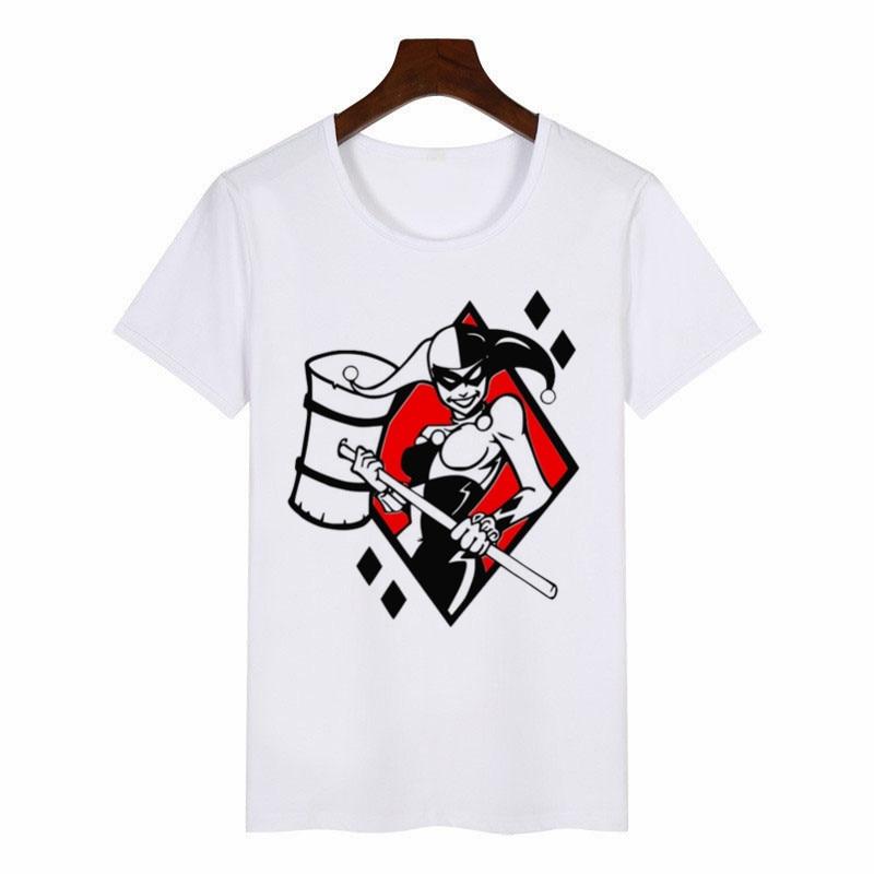 Women/'s Black And White Harlequin Diamonds Print Crew Neck T-Shirt Top Size 8-22