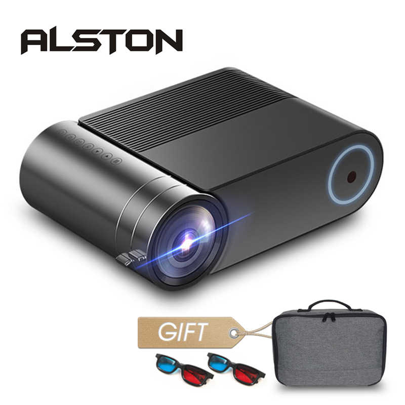 ALSTON YG420 Full HD projektör 3800 lümen ev sineması Video Beamer Proyector HDMI VGA AV USB hediye