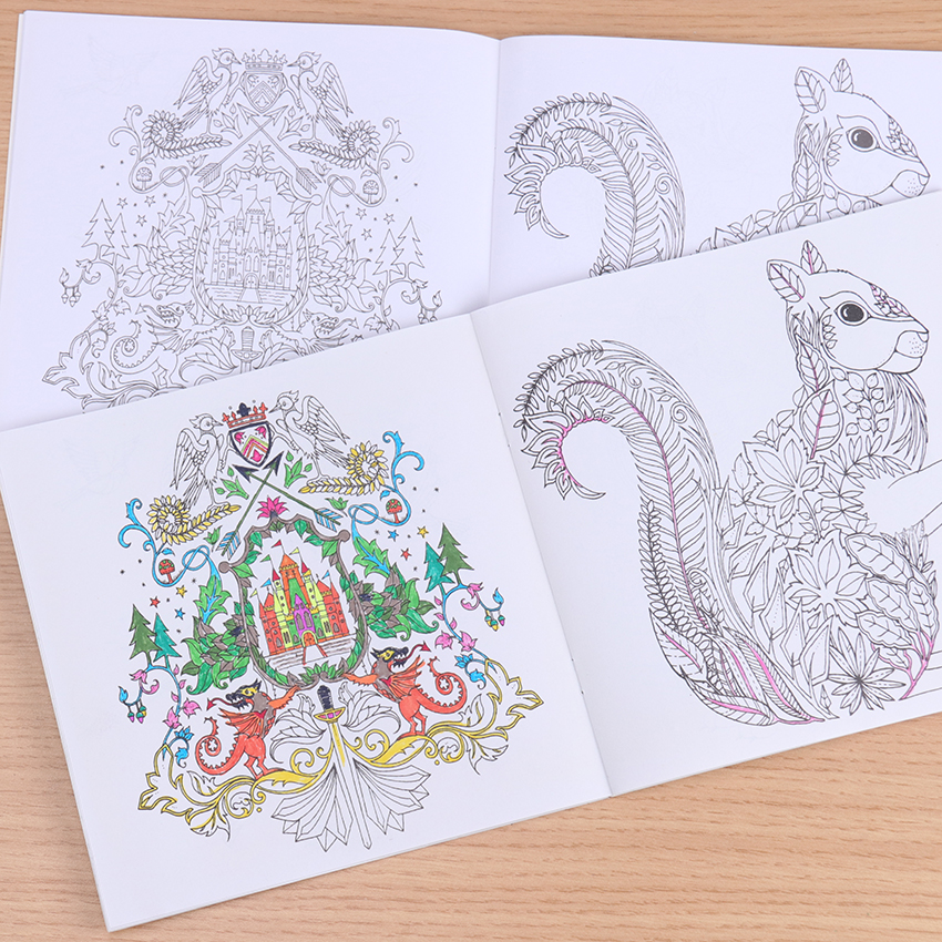 Hot Offer Dda9 A Hand Painted Explore Wonderland Coloring Book