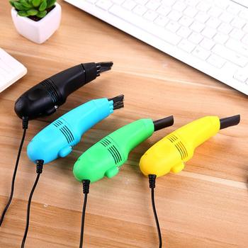 1pc Keyboard Vacuum Cleaner USB Computer Dust Cleaning Brush Kit For Laptop Desktop PC Keyboards Remove Dust Brushes Drop Ship 1