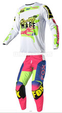 Delicato Volpe Adulto 360 Bianco Rosa MX Pant & Jersey Combo Off Road ATV Motocross Dirt Bike Equitazione Gear Set(China)