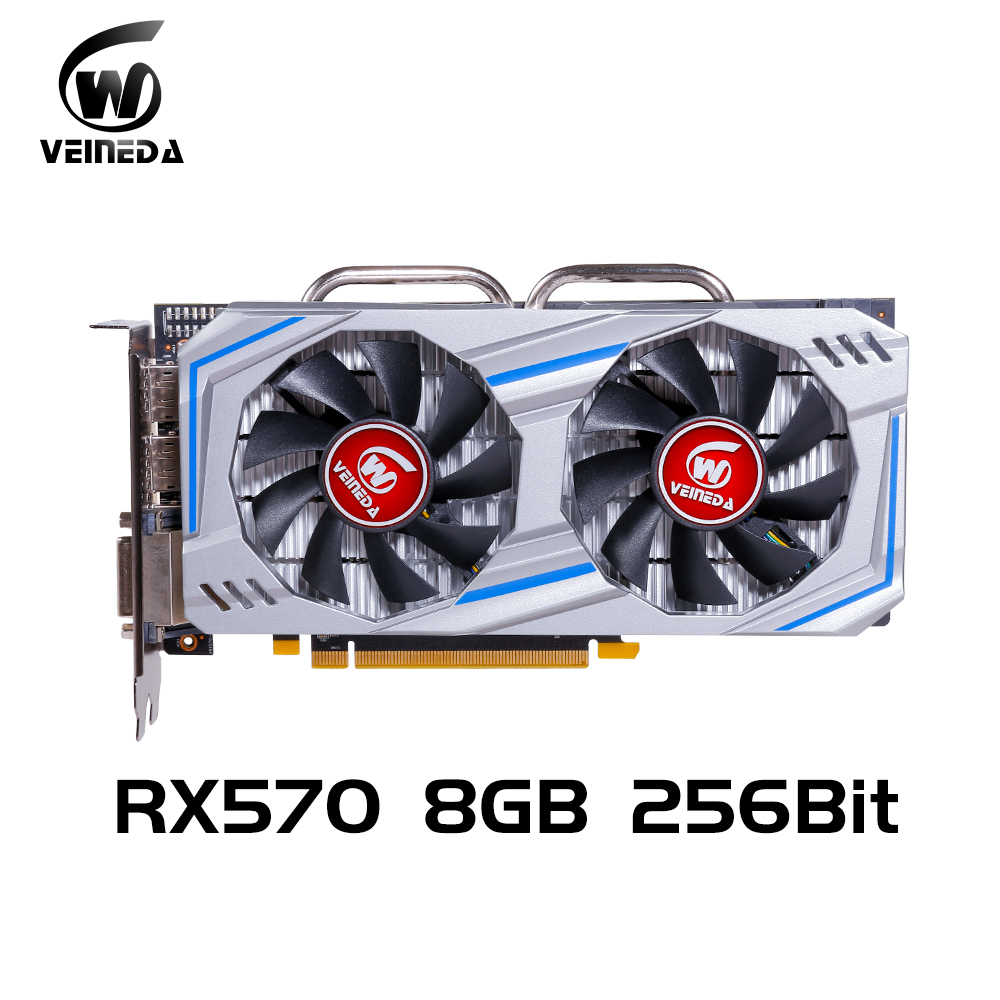 Image 5 - Veineda Video Card Radeon RX 570 8GB 256Bit GDDR5 1244/7000MHz Graphics Card PC Gaming for nVIDIA Geforce Games rx 570 8gbGraphics Cards   -