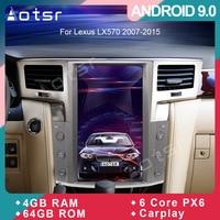 Tesla styel Android 9.0 Car DVD player GPS Navigation For Lexus LX570 2007 2015 Car Auto radio Coche Multimedia player head unit